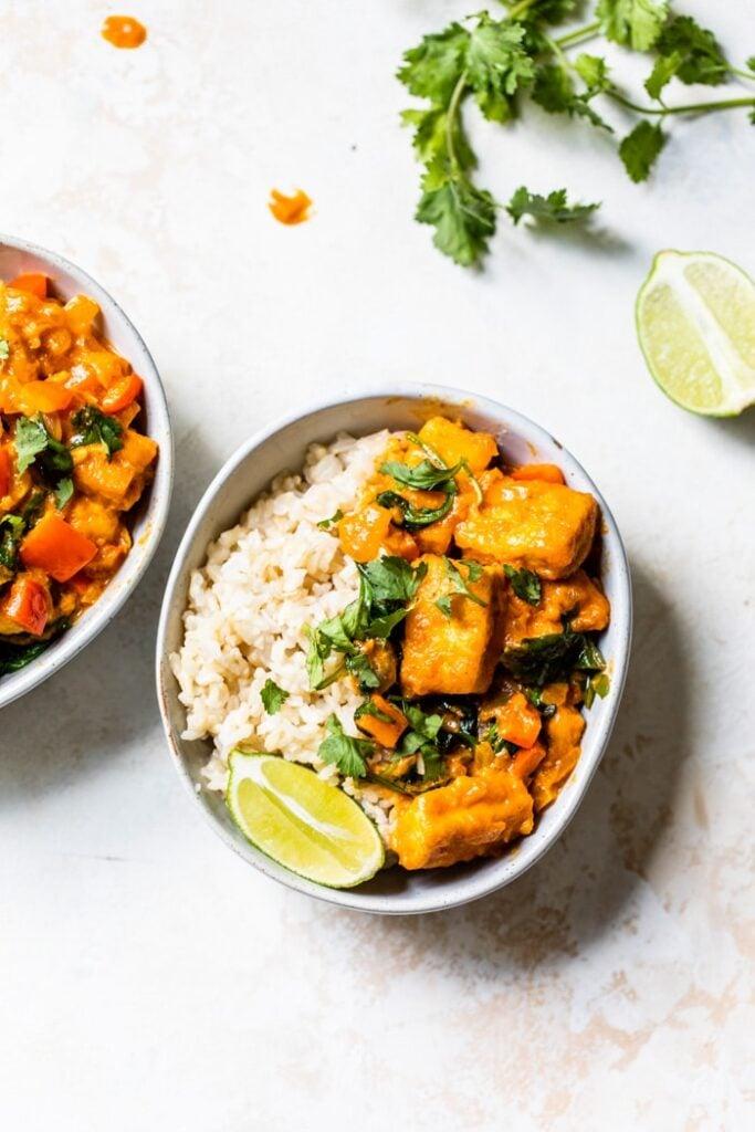 62 Vegan Tofu Recipes - Easy Tofu Curry   Hurry The Food Up