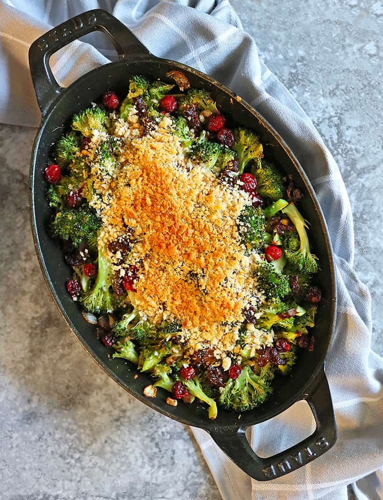 40 Vegan Broccoli Recipes – Plant-based plants - Broccoli Gratin with Cranberries | Hurry The Food Up