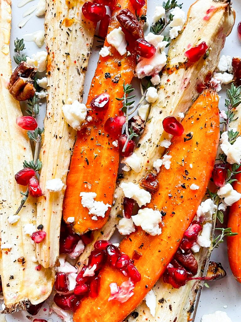 The meal is baked and ready for munching #pepper #pomegranate | hurrythefoodup.com