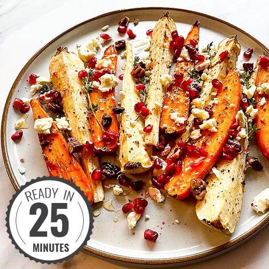 Honey Roasted Carrots & Parsnips – Glazed Vegetables | hurrythefoodup.com