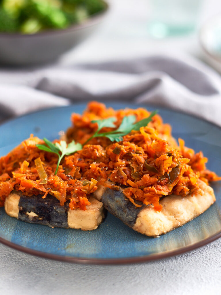 62 Vegan Tofu Recipes - Polish Fish - Tofu po Grecku   Hurry The Food Up