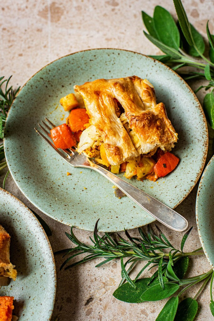 40 Sweet and Savory Vegetarian Pies – Bake your weekend away - Roasted Vegetable Pie with Puff Pastry | Hurry The Food Up