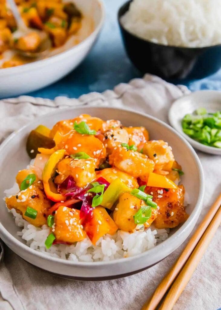 62 Vegan Tofu Recipes - Sweet & Sour Tofu   Hurry The Food Up