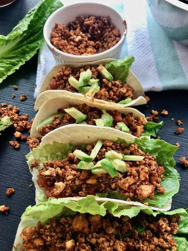 62 Vegan Tofu Recipes - Tofu Crumble for Vegan Tacos   Hurry The Food Up
