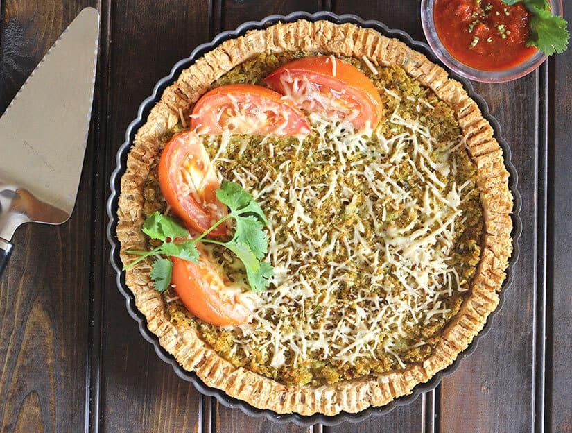 40 Sweet and Savory Vegetarian Pies – Bake your weekend away - Cauliflower Potato Pie | Hurry The Food Up