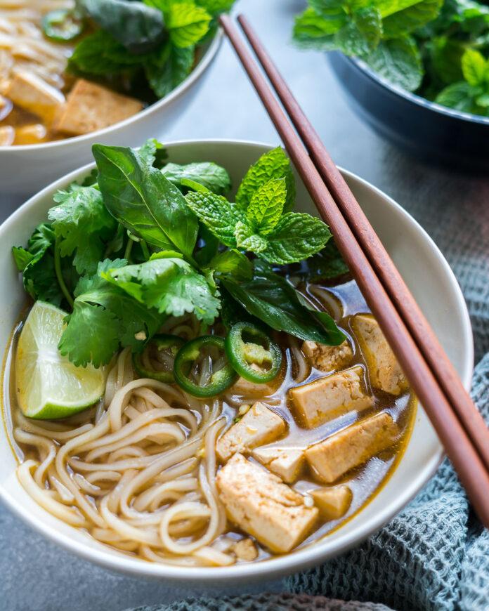 62 Vegan Tofu Recipes - Vegan Pho with Tofu   Hurry The Food Up