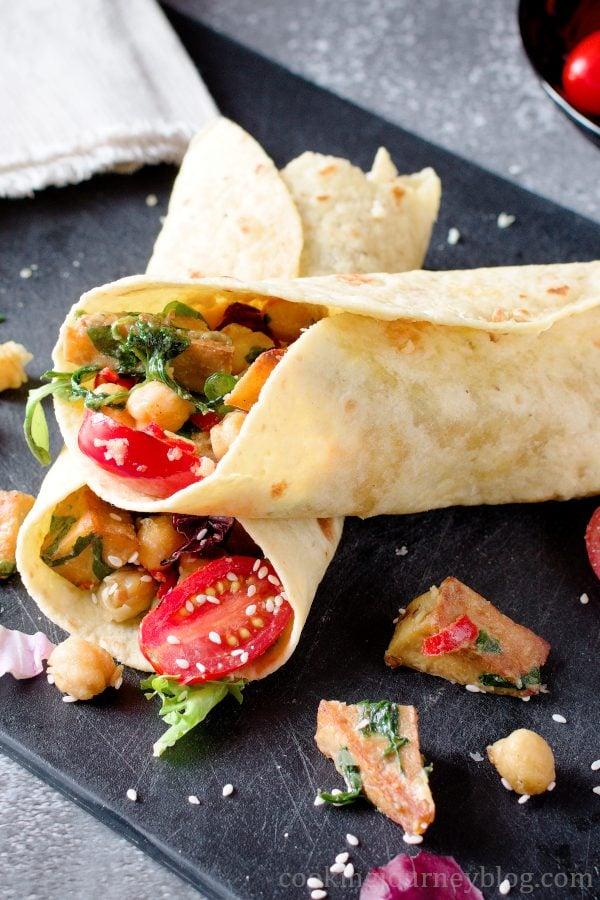62 Vegan Tofu Recipes - Vegan Tofu Wrap   Hurry The Food Up