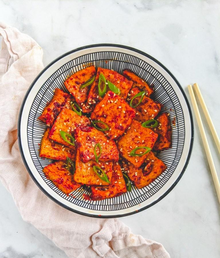 62 Vegan Tofu Recipes - Korean Spicy Braised Tofu   Hurry The Food Up