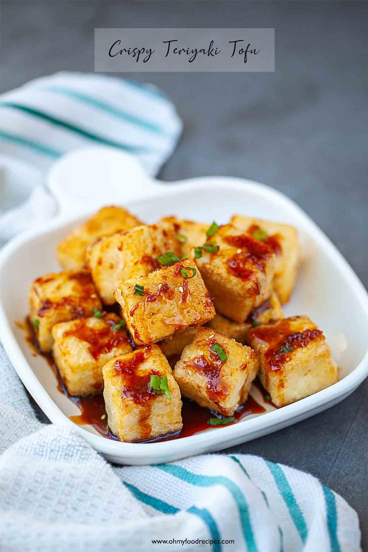 62 Vegan Tofu Recipes - Crispy Teriyaki Tofu   Hurry The Food Up