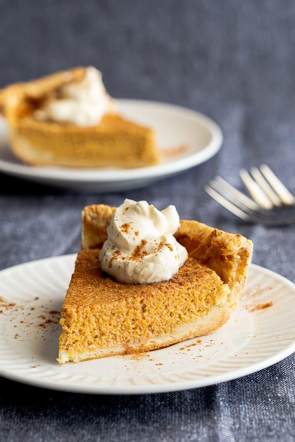 40 Sweet and Savory Vegetarian Pies – Bake your weekend away - Coconut Milk Pumpkin Pie | Hurry The Food Up