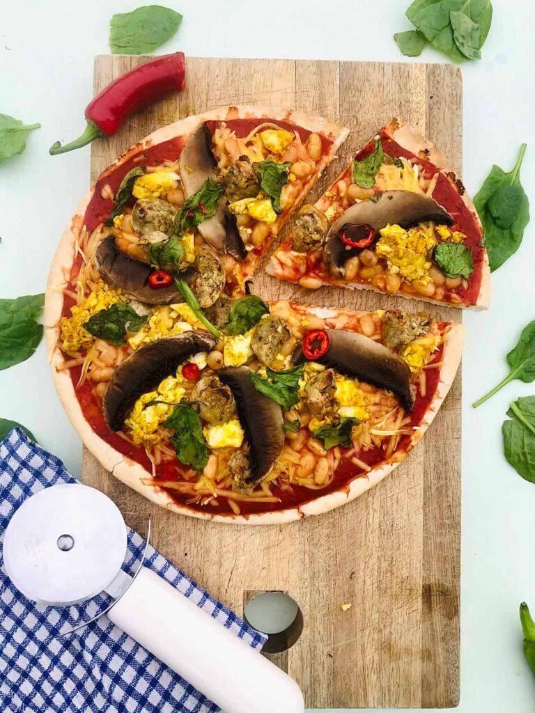 62 Vegan Tofu Recipes - Vegan Breakfast Pizza   Hurry The Food Up