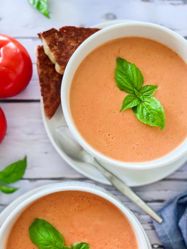 62 Vegan Tofu Recipes - Vegan Tomato Bisque   Hurry The Food Up