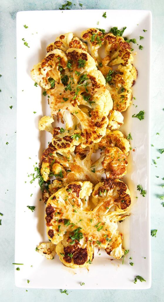 100 Gluten-Free Vegan Recipes - Pan Roasted Cauliflower Steaks | Hurry The Food Up