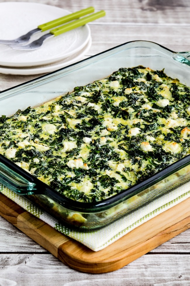 100 Gluten-free Vegetarian Recipes – Kale And Feta Breakfast Casserole | Hurry The Food Up