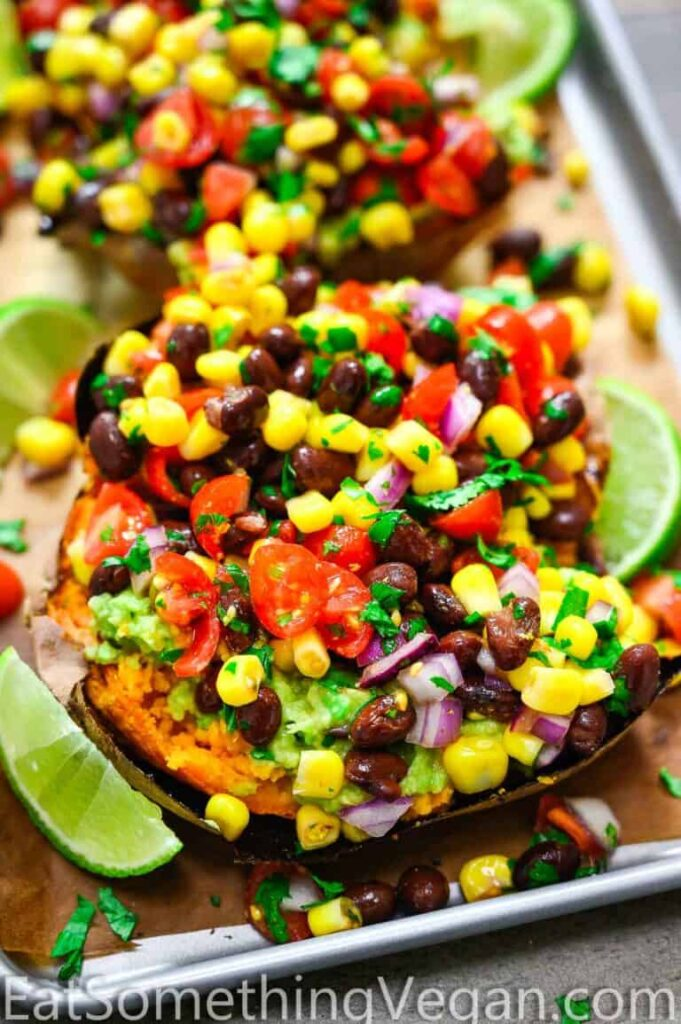 100 Gluten-free Vegetarian Recipes – Mexican Stuffed Sweet Potatoes   Hurry The Food Up