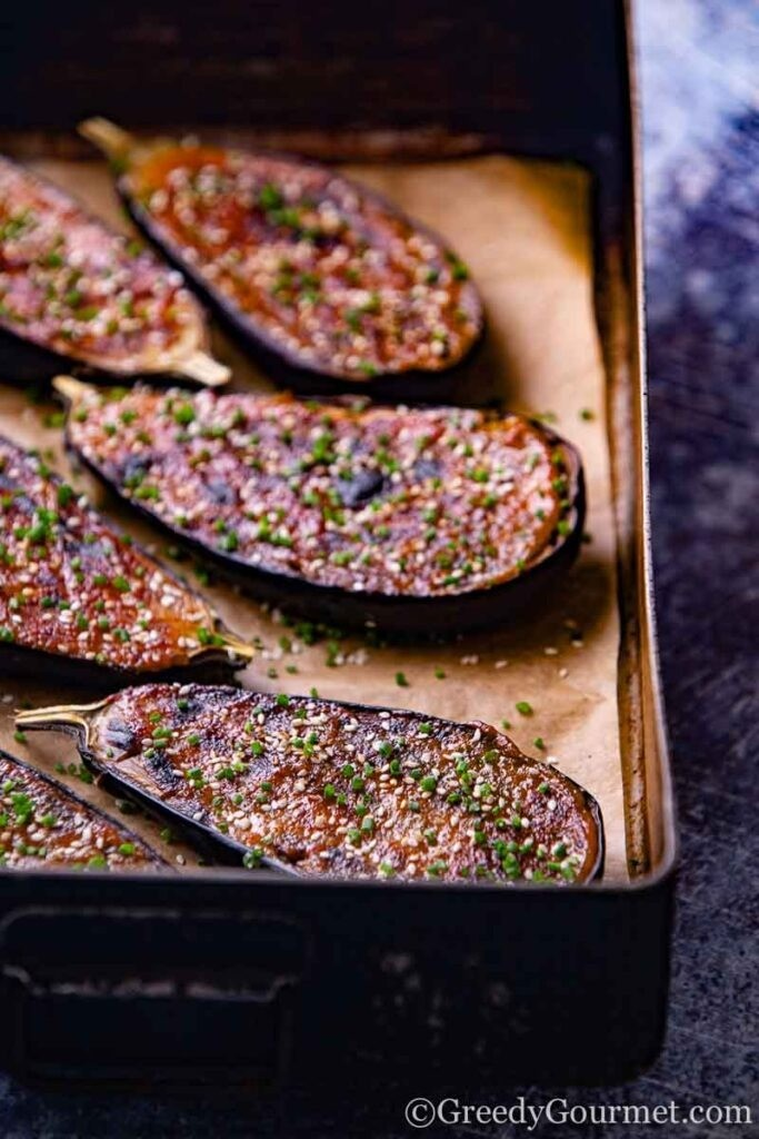 40 Vegan Eggplant Recipes - Miso Eggplant | Hurry The Food Up