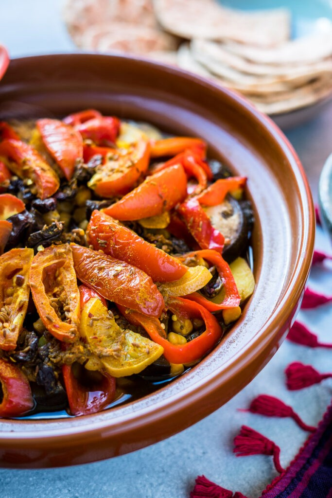 100 Gluten-Free Vegan Recipes - Moroccan Vegetable Tagine | Hurry The Food Up