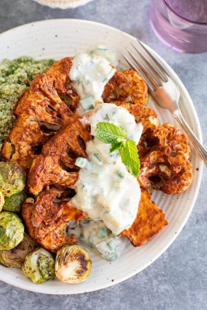 100 Gluten-Free Vegan Recipes - Roasted Harissa Cauliflower Steaks   Hurry The Food Up
