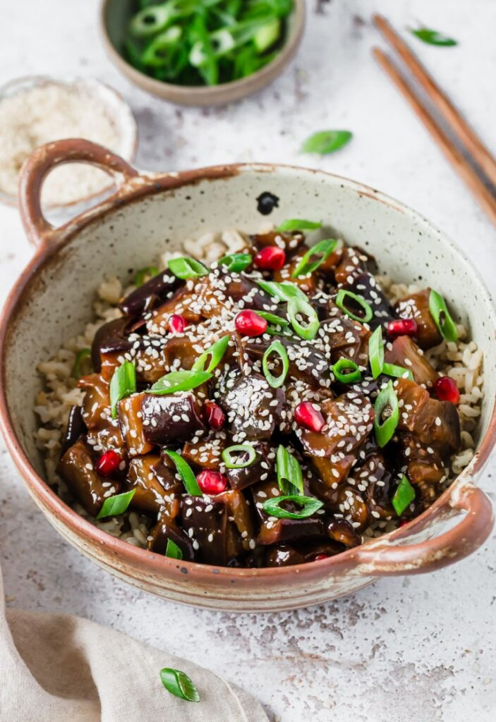 40 Vegan Eggplant Recipes - The Best Quick & Easy Vegan Sticky Aubergine | Hurry The Food Up