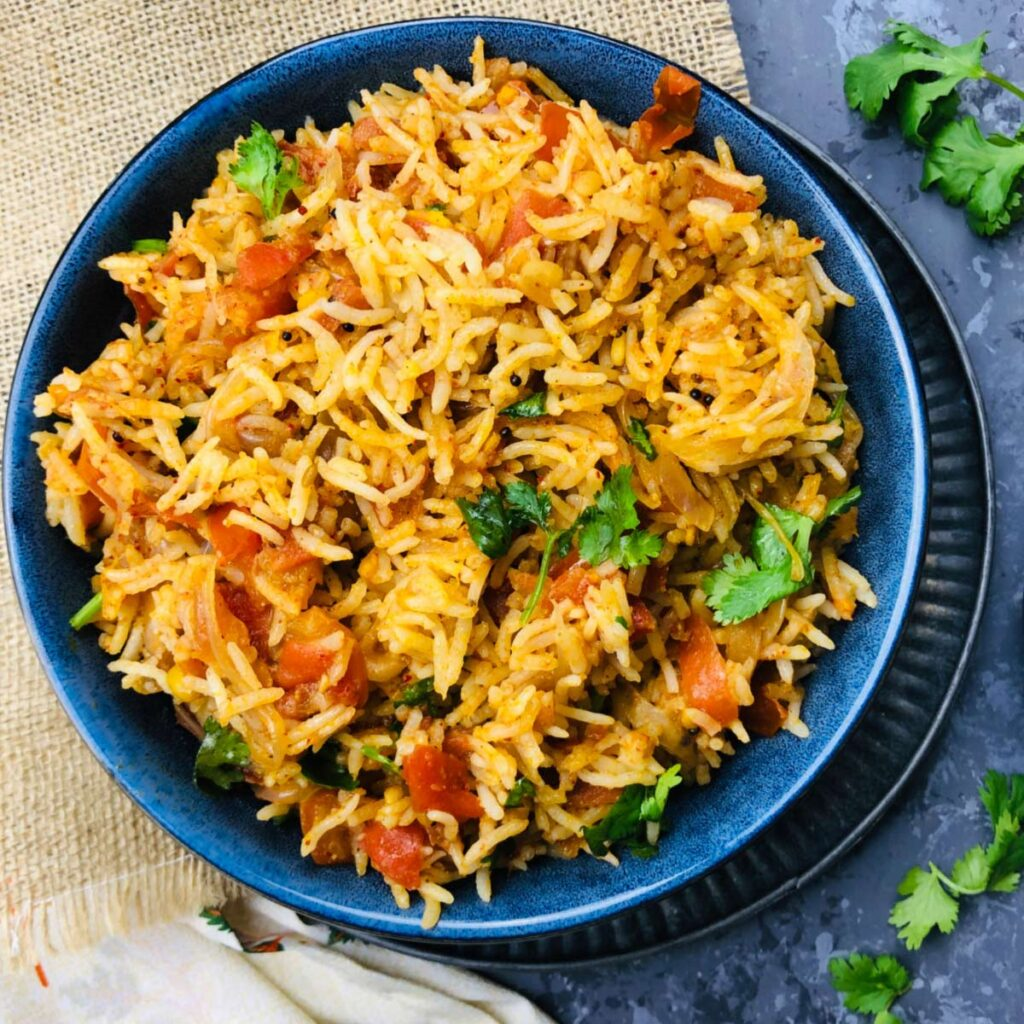 100 Gluten-free Vegetarian Recipes – Tomato Rice | Hurry The Food Up