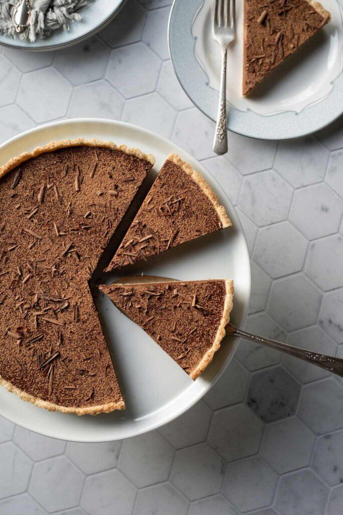 100 Gluten-Free Vegan Recipes - Vegan Chocolate Tart   Hurry The Food Up