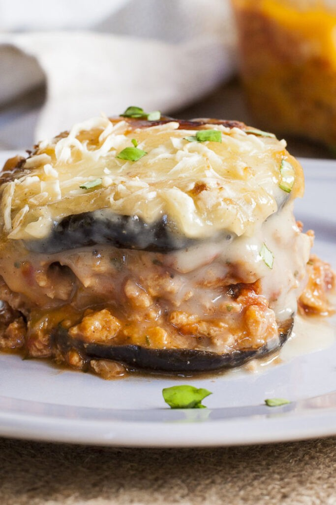 40 Vegan Eggplant Recipes - Vegan Moussaka | Hurry The Food Up