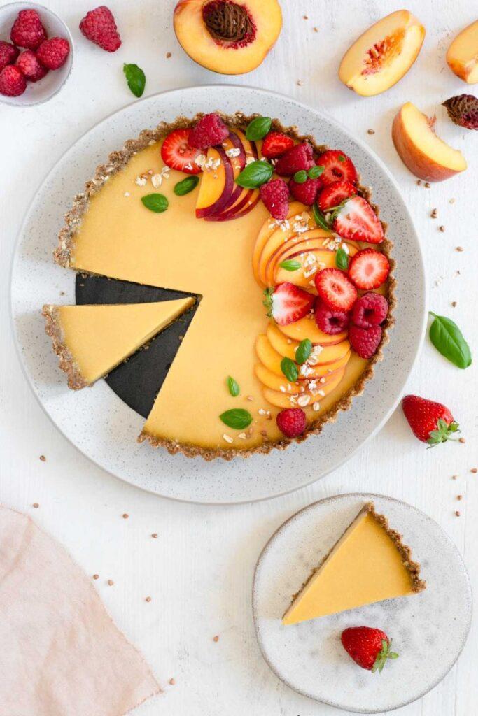 100 Gluten-Free Vegan Recipes - Summer Peach Tart   Hurry The Food Up