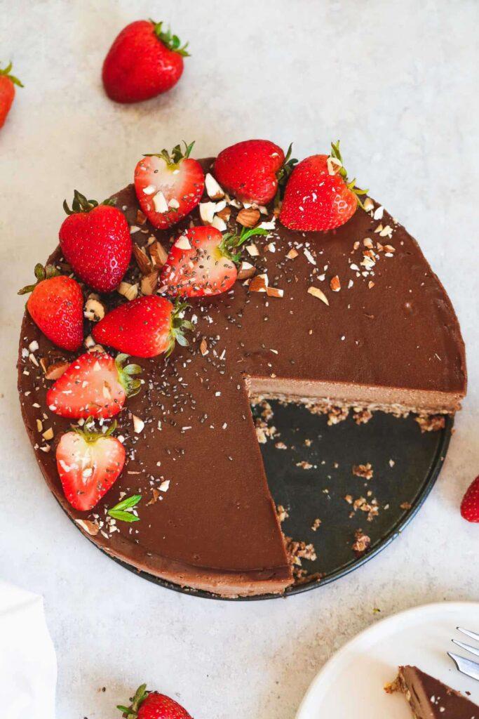 100 Gluten-Free Vegan Recipes - Vegan Chocolate Cheesecake   Hurry The Food Up