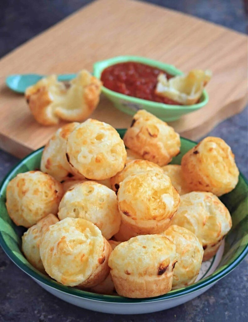 100 Gluten-free Vegetarian Recipes – Pão de Queijo - Brazilian Cheese Bread   Hurry The Food Up
