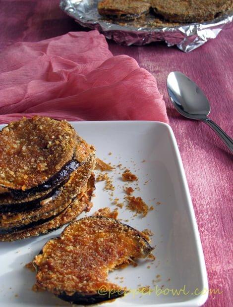 40 Vegan Eggplant Recipes - Crispy Baked Eggplant Recipe | Hurry The Food Up