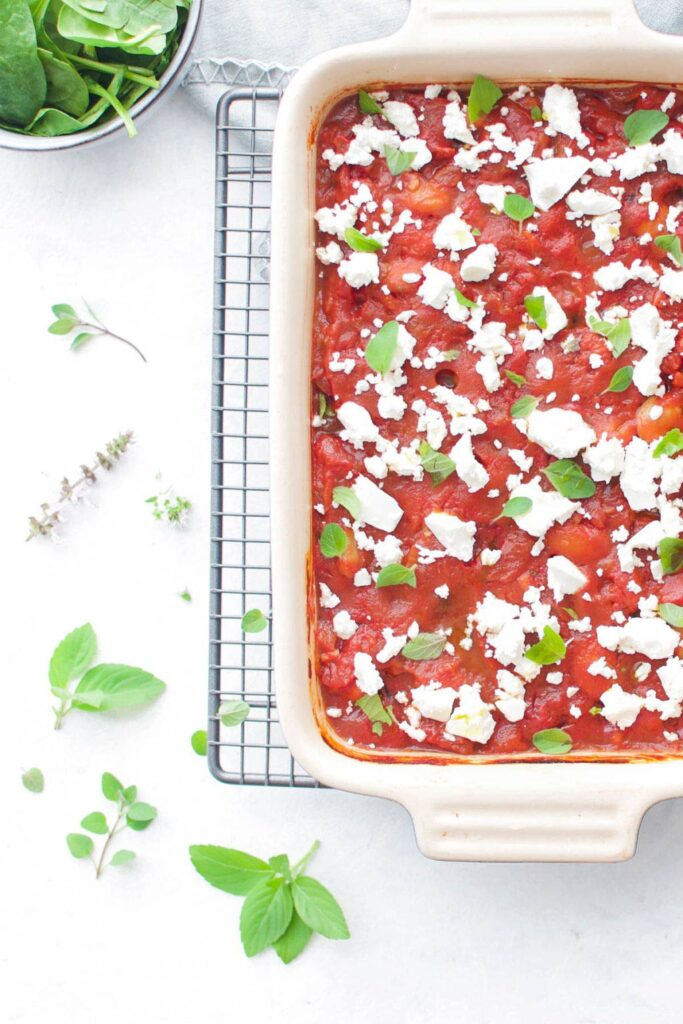 100 Gluten-free Vegetarian Recipes – Gigantes Plaki (Greek Baked Beans)   Hurry The Food Up