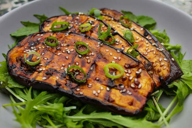 40 Vegan Eggplant Recipes - Teriyaki Grilled Aubergine | Hurry The Food Up