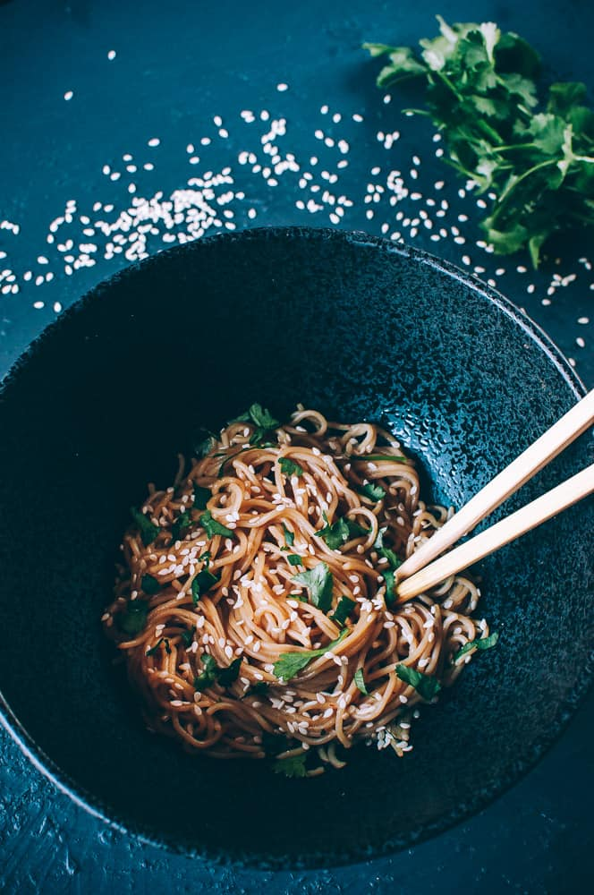 100 Gluten-Free Vegan Recipes - Sesame Noodles | Hurry The Food Up