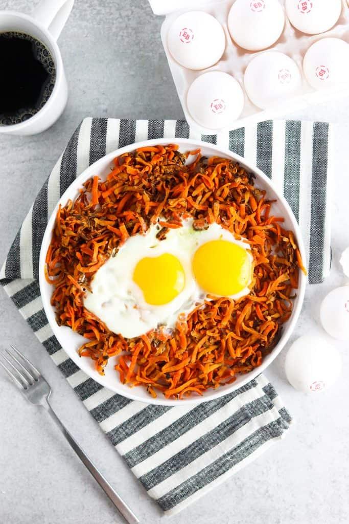 100 Gluten-free Vegetarian Recipes – Sweet Potato Hash & Eggs   Hurry The Food Up