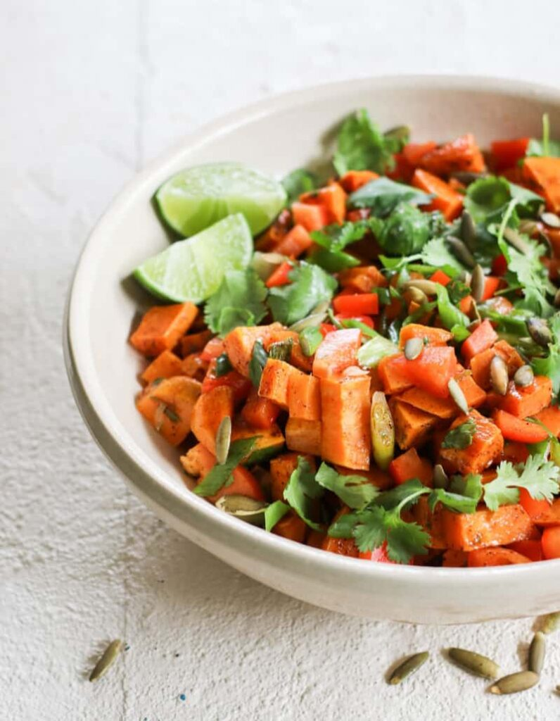 100 Gluten-free Vegetarian Recipes – Sweet Potato Salad with Chili-Lime Dressing | Hurry The Food Up