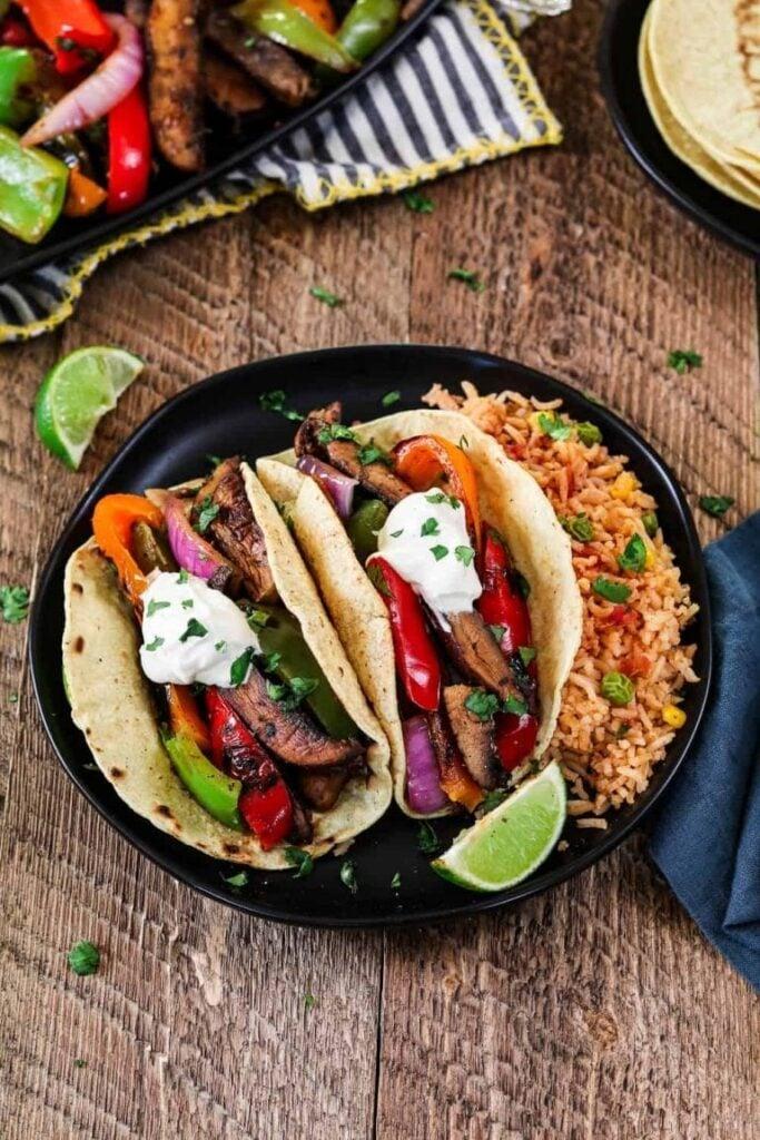 100 Gluten-free Vegetarian Recipes – Portobello Vegan Fajitas   Hurry The Food Up