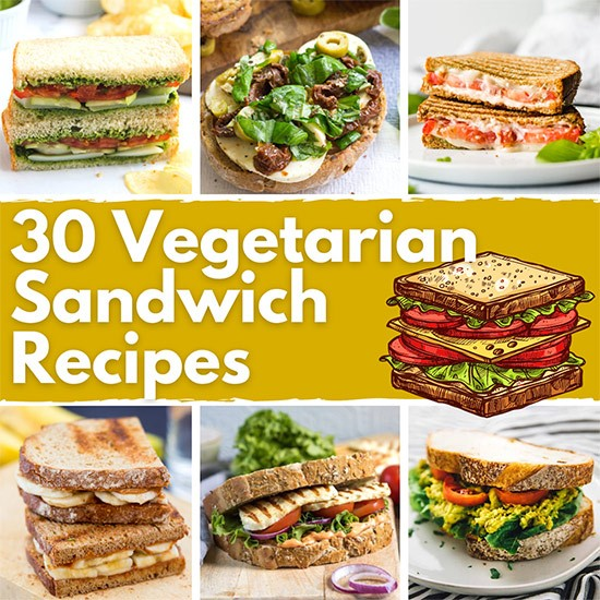 30 Best Vegetarian Sandwich Recipes | Hurry The Food Up