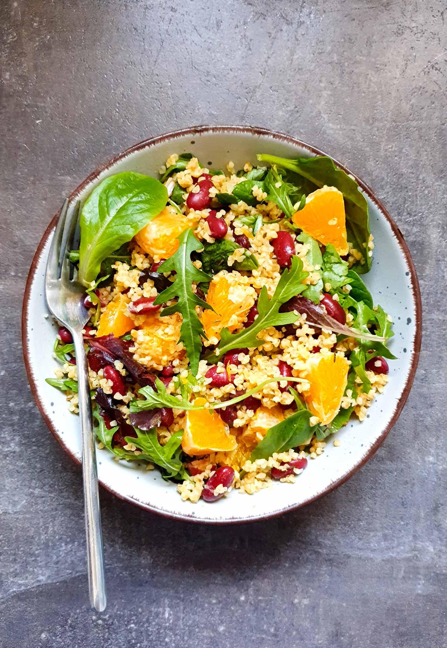 Colourful Bulgur Kidney Bean Salad   Hurry The Food Up