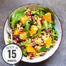 Colourful Bulgur Kidney Bean Salad | Hurry The Food Up