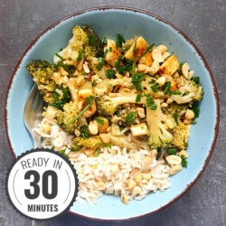 Easy Broccoli Stir Fry with Brown Rice | Hurry The Food Up