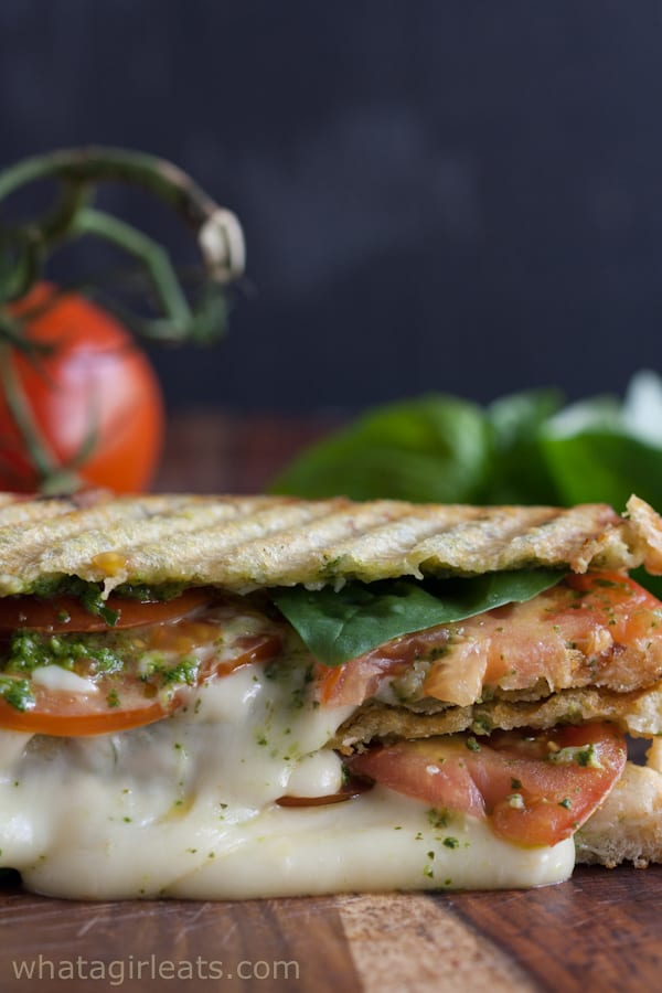 30 Best Veggie (Vegetarian) Sandwich Recipes - Grilled Caprese Panini | Hurry The Food Up