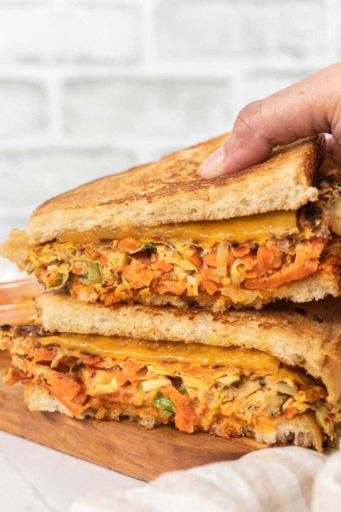 30 Best Veggie (Vegetarian) Sandwich Recipes - Korean Street Toastie (Gilgeori Toast) | Hurry The Food Up