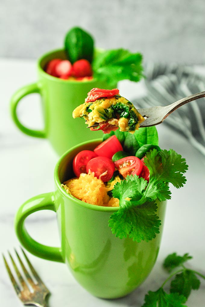 50 Vegetarian Recipes for Kids - Omelet in a Mug | Hurry The Food Up