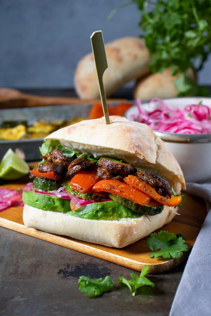 30 Best Veggie (Vegetarian) Sandwich Recipes - Peruvian Sanguche | Hurry The Food Up