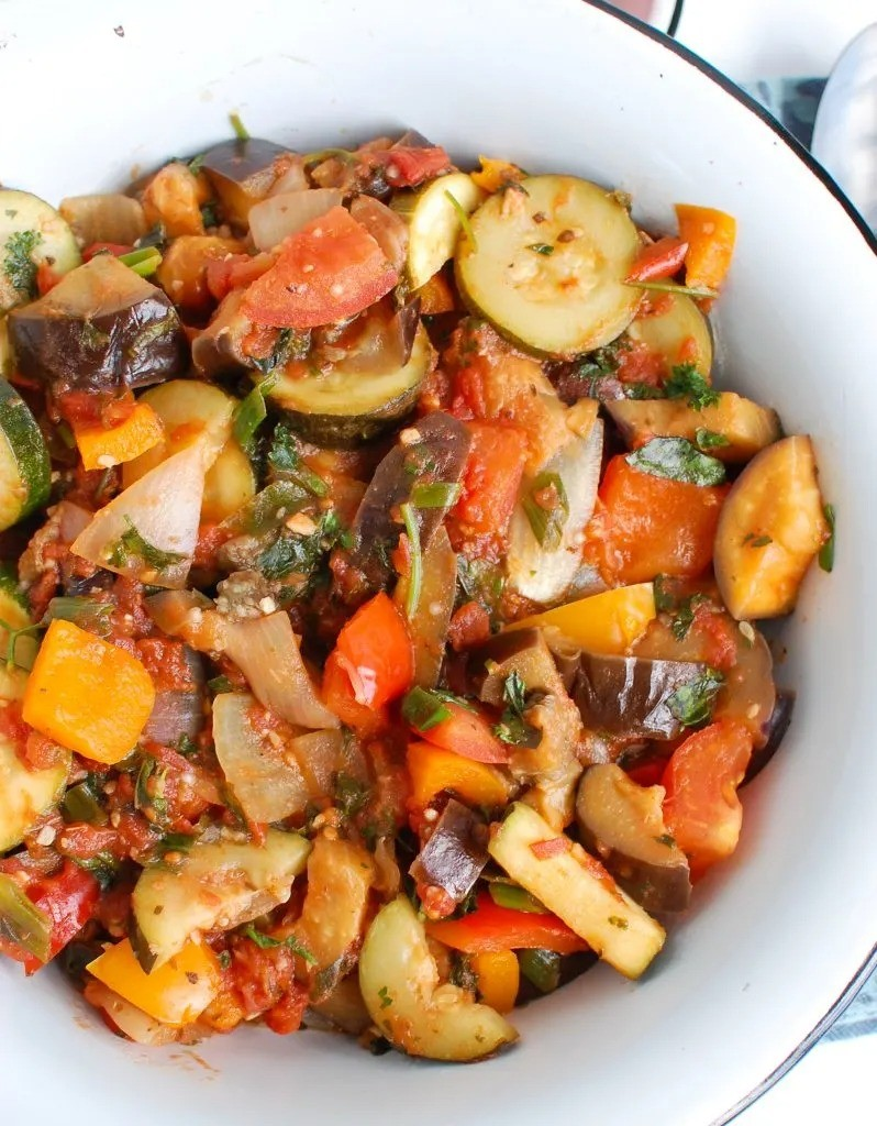 40 Delightful Vegetarian Eggplant Recipes (Vegetarian Aubergine Recipes) - Ratatouille Recipe | Hurry The Food Up