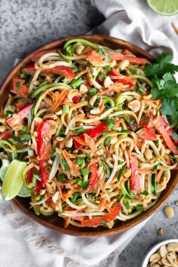 20 Vegan Stir Fry Recipes - Raw Pad Thai | Hurry The Food Up