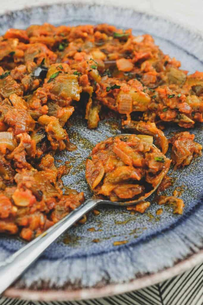 40 Delightful Vegetarian Eggplant Recipes (Vegetarian Aubergine Recipes) - Spanish Eggplant Salad | Hurry The Food Up