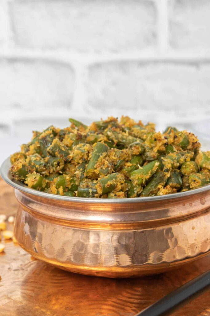 20 Best Vegetarian Stir Fry Recipes - Stir Fry Green Beans with Coconut (Beans Poriyal) | Hurry The Food Up