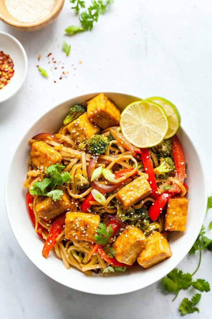 20 Vegan Stir Fry Recipes - Vegan Tofu Stir Fry | Hurry The Food Up