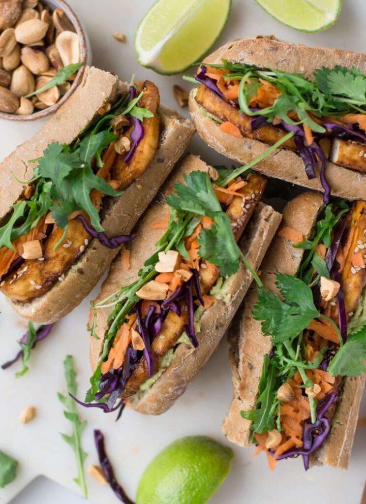 30 Best Veggie (Vegetarian) Sandwich Recipes - Crispy Tofu Sandwich | Hurry The Food Up